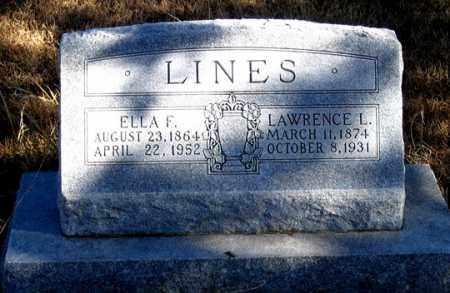 COOLEY LINES, ELLA F. - Dundy County, Nebraska   ELLA F. COOLEY LINES - Nebraska Gravestone Photos