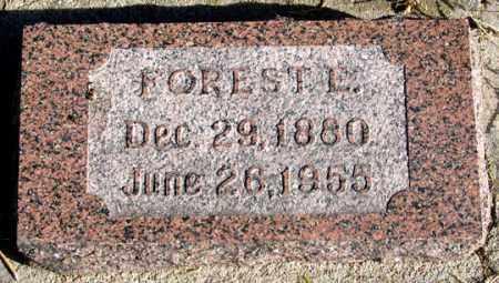LINES, FOREST E. - Dundy County, Nebraska | FOREST E. LINES - Nebraska Gravestone Photos
