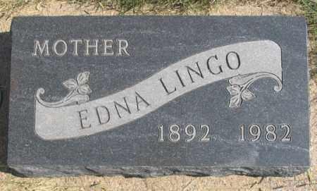 HUGGANS LINGO, ALMA EDNA - Dundy County, Nebraska | ALMA EDNA HUGGANS LINGO - Nebraska Gravestone Photos