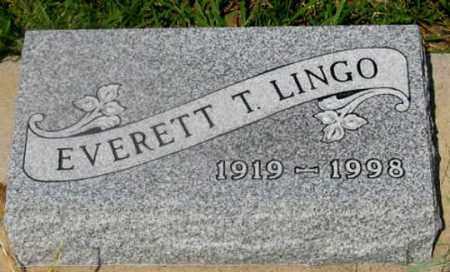 LINGO, EVERETT T. - Dundy County, Nebraska | EVERETT T. LINGO - Nebraska Gravestone Photos