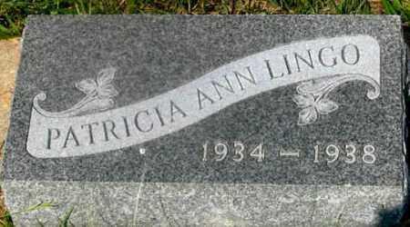 LINGO, PATRICIA ANN - Dundy County, Nebraska | PATRICIA ANN LINGO - Nebraska Gravestone Photos