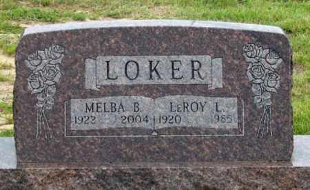 LOKER, LEROY L. - Dundy County, Nebraska   LEROY L. LOKER - Nebraska Gravestone Photos