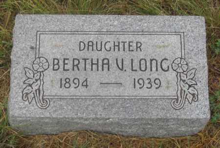 LONG, BERTHA V. - Dundy County, Nebraska | BERTHA V. LONG - Nebraska Gravestone Photos