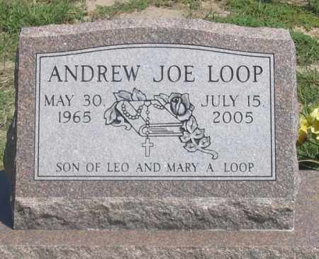LOOP, ANDREW JOE - Dundy County, Nebraska | ANDREW JOE LOOP - Nebraska Gravestone Photos