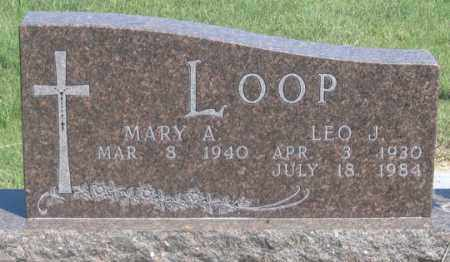 LOOP, MARY A. - Dundy County, Nebraska | MARY A. LOOP - Nebraska Gravestone Photos