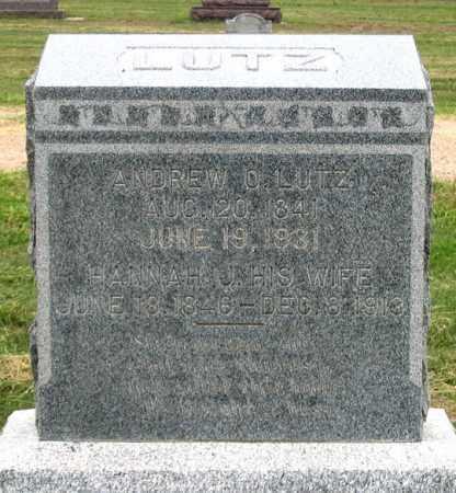 HIGLEY LUTZ, HANNAH J. - Dundy County, Nebraska   HANNAH J. HIGLEY LUTZ - Nebraska Gravestone Photos