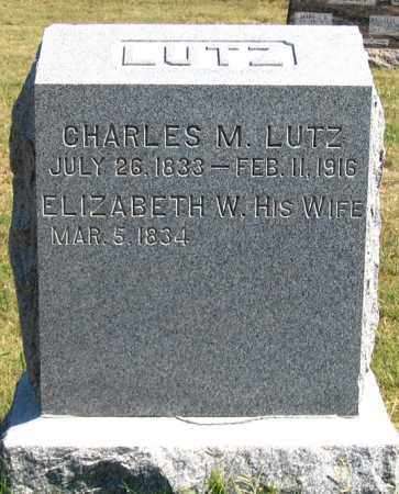 LUTZ, ELIZABETH W. - Dundy County, Nebraska | ELIZABETH W. LUTZ - Nebraska Gravestone Photos