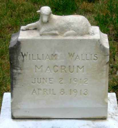 MACRUM, WILLIAM WALLIS - Dundy County, Nebraska | WILLIAM WALLIS MACRUM - Nebraska Gravestone Photos