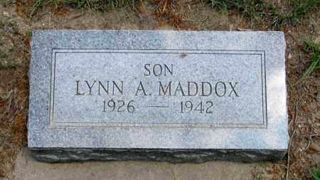 MADDOX, LYNN A. - Dundy County, Nebraska | LYNN A. MADDOX - Nebraska Gravestone Photos