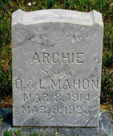 MAHON, ARCHIE - Dundy County, Nebraska | ARCHIE MAHON - Nebraska Gravestone Photos