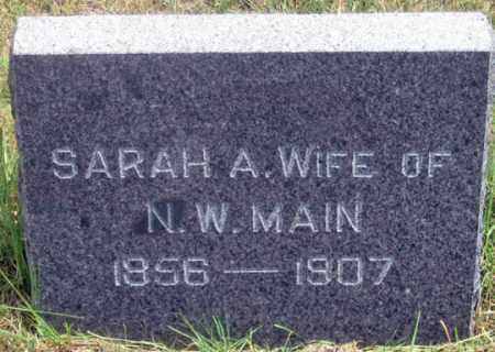 MAIN, SARAH A. - Dundy County, Nebraska | SARAH A. MAIN - Nebraska Gravestone Photos