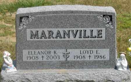 MARANVILLE, LOYD E. - Dundy County, Nebraska   LOYD E. MARANVILLE - Nebraska Gravestone Photos