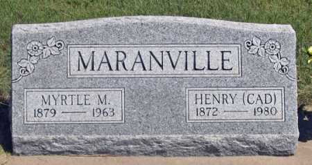 GODDARD MARANVILLE, MYRTLE M. - Dundy County, Nebraska | MYRTLE M. GODDARD MARANVILLE - Nebraska Gravestone Photos