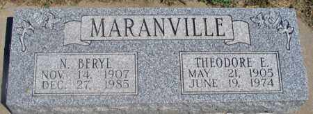PORTER MARANVILLE, N. BERYL - Dundy County, Nebraska   N. BERYL PORTER MARANVILLE - Nebraska Gravestone Photos