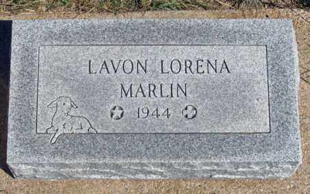MARLIN, LAVON LORENA - Dundy County, Nebraska   LAVON LORENA MARLIN - Nebraska Gravestone Photos