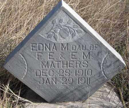 MATHERS, EDNA M. - Dundy County, Nebraska | EDNA M. MATHERS - Nebraska Gravestone Photos