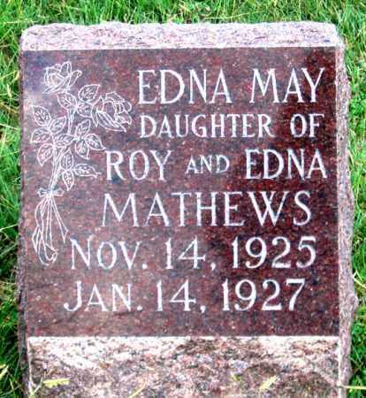 MATHEWS, EDNA MAY - Dundy County, Nebraska   EDNA MAY MATHEWS - Nebraska Gravestone Photos