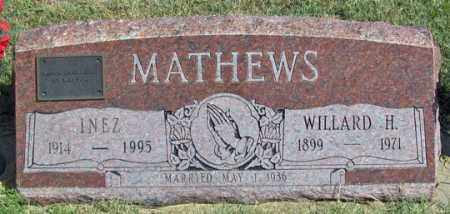 MATHEWS, INEZ - Dundy County, Nebraska | INEZ MATHEWS - Nebraska Gravestone Photos