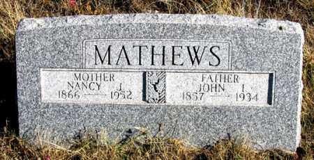 MATHEWS, NANCY J. - Dundy County, Nebraska | NANCY J. MATHEWS - Nebraska Gravestone Photos