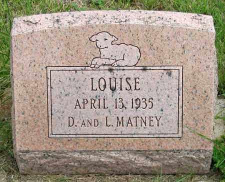 MATNEY, LOUISE - Dundy County, Nebraska | LOUISE MATNEY - Nebraska Gravestone Photos