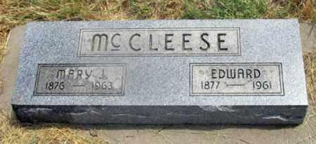MCCLEESE, EDWARD GEORGE - Dundy County, Nebraska | EDWARD GEORGE MCCLEESE - Nebraska Gravestone Photos