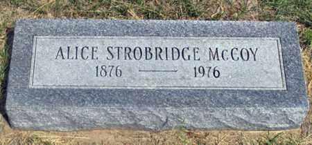 MCCOY, ALICE - Dundy County, Nebraska | ALICE MCCOY - Nebraska Gravestone Photos