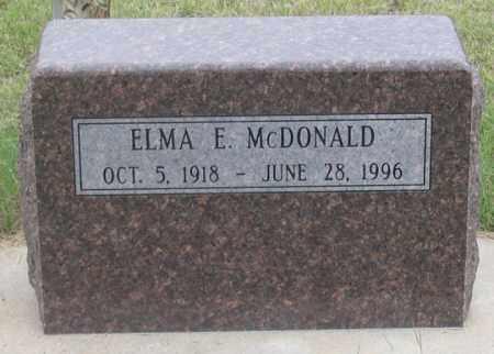 HARDER MCDONALD, ELMA E. - Dundy County, Nebraska   ELMA E. HARDER MCDONALD - Nebraska Gravestone Photos