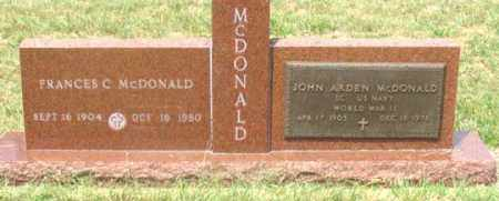 MCDONALD, FRANCES C. - Dundy County, Nebraska | FRANCES C. MCDONALD - Nebraska Gravestone Photos
