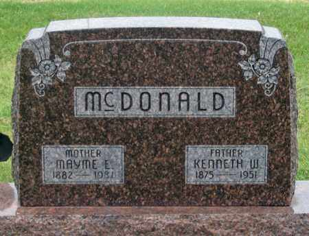 O'NEALL MCDONALD, MAYME E. - Dundy County, Nebraska | MAYME E. O'NEALL MCDONALD - Nebraska Gravestone Photos