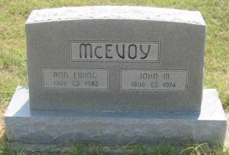 MCEVOY, ANN - Dundy County, Nebraska   ANN MCEVOY - Nebraska Gravestone Photos