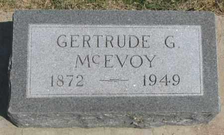 MCEVOY, GERTRUDE G. - Dundy County, Nebraska   GERTRUDE G. MCEVOY - Nebraska Gravestone Photos