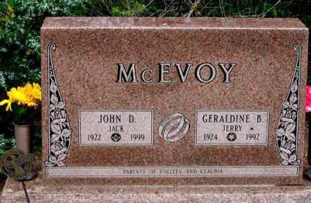 "MCEVOY, JOHN D. ""JACK"" - Dundy County, Nebraska | JOHN D. ""JACK"" MCEVOY - Nebraska Gravestone Photos"