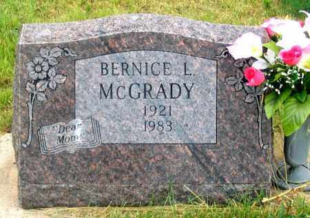 MCGRADY, BERNICE LOUISE - Dundy County, Nebraska | BERNICE LOUISE MCGRADY - Nebraska Gravestone Photos