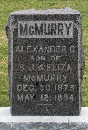 MCMURRY, ALEXANDER G. - Dundy County, Nebraska | ALEXANDER G. MCMURRY - Nebraska Gravestone Photos