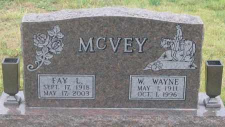 MCVEY, FAY LENORA - Dundy County, Nebraska | FAY LENORA MCVEY - Nebraska Gravestone Photos
