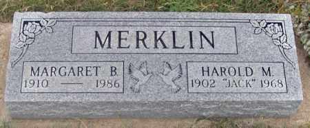 HANES MERKLIN, MARGARET B. - Dundy County, Nebraska | MARGARET B. HANES MERKLIN - Nebraska Gravestone Photos