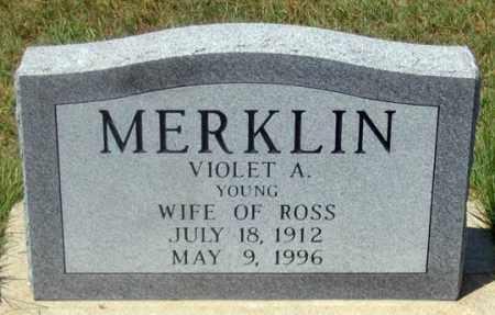 MERKLIN, VIOLET A. - Dundy County, Nebraska | VIOLET A. MERKLIN - Nebraska Gravestone Photos