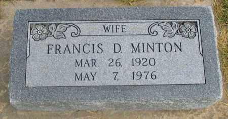 MINTON, FRANCES DOROTHY - Dundy County, Nebraska   FRANCES DOROTHY MINTON - Nebraska Gravestone Photos