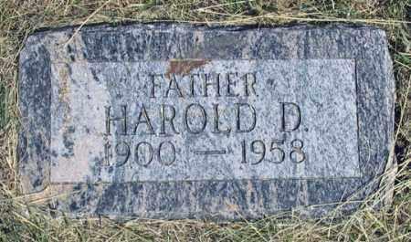 MOSIER, HAROLD D. - Dundy County, Nebraska   HAROLD D. MOSIER - Nebraska Gravestone Photos