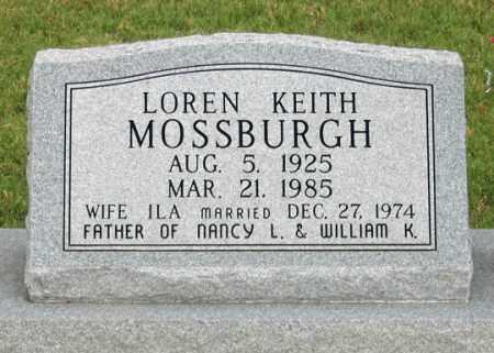 MOSSBURGH, LOREN KEITH - Dundy County, Nebraska   LOREN KEITH MOSSBURGH - Nebraska Gravestone Photos