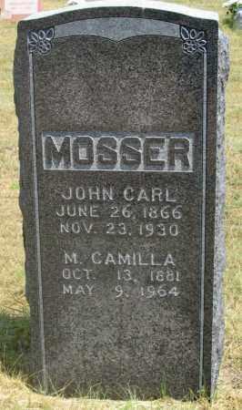 MOSSER, JOHN CARL - Dundy County, Nebraska | JOHN CARL MOSSER - Nebraska Gravestone Photos