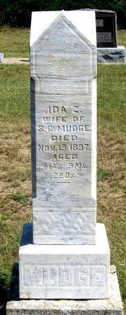 MUDGE, IDA ZONIA - Dundy County, Nebraska | IDA ZONIA MUDGE - Nebraska Gravestone Photos
