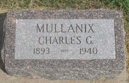 MULLANIX, CHARLES G. - Dundy County, Nebraska | CHARLES G. MULLANIX - Nebraska Gravestone Photos