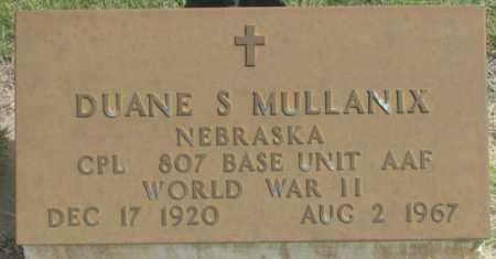 MULLANIX, DUANE S. - Dundy County, Nebraska | DUANE S. MULLANIX - Nebraska Gravestone Photos