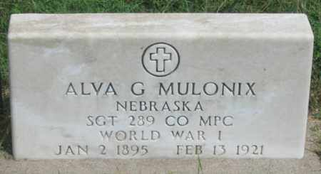 MULLANIX (MULONIX?), ALVA GLEN - Dundy County, Nebraska | ALVA GLEN MULLANIX (MULONIX?) - Nebraska Gravestone Photos