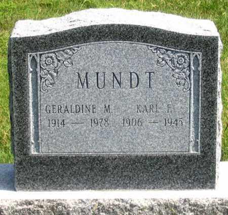 MUNDT, KARL F. - Dundy County, Nebraska | KARL F. MUNDT - Nebraska Gravestone Photos