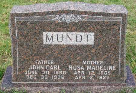 MUNDT, JOHN CARL - Dundy County, Nebraska | JOHN CARL MUNDT - Nebraska Gravestone Photos