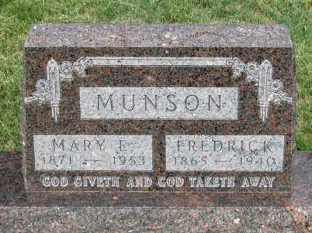 EDWARDS MUNSON, MARY E. - Dundy County, Nebraska | MARY E. EDWARDS MUNSON - Nebraska Gravestone Photos