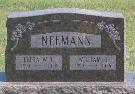 NEEMANN, LETHA W. L. - Dundy County, Nebraska   LETHA W. L. NEEMANN - Nebraska Gravestone Photos
