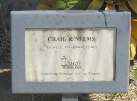 NELMS, CRAIG R. - Dundy County, Nebraska   CRAIG R. NELMS - Nebraska Gravestone Photos